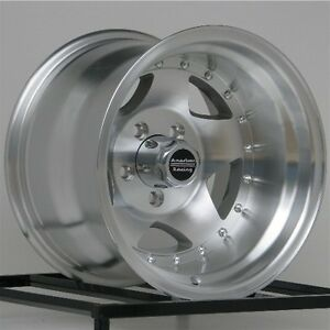 15 Inch Wheels Rims Jeep Wrangler Ford Ranger Machined 5 X 4 5 Lug New 15x10