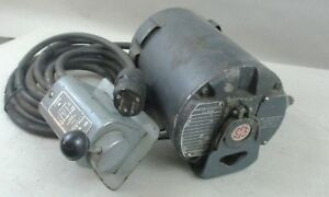 General Electric 1 6 Hp For rev Motor For Lathe