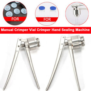 20mm Stainless Steel Manual Crimper Flip Off Caps Hand Sealing Capping Machine