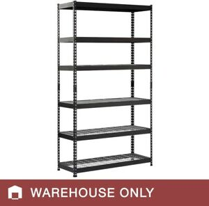 Edsal Rivet Rack With Wire Decking 48 w X 18 d X 86 h