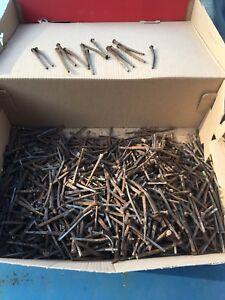 Lot Of 25 Square Cut 2 3 Inch Nails