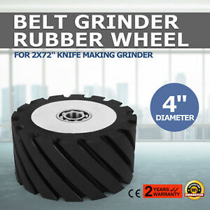 Belt Grinder Rubber Wheel 4 Dia For 2x72 Knife Making Grinder Precision 70duro