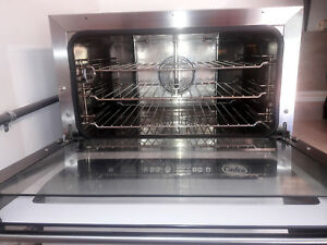 Countertop Convection Oven Cadco Xaft 115 Electric 3 Half size Pan Capacity