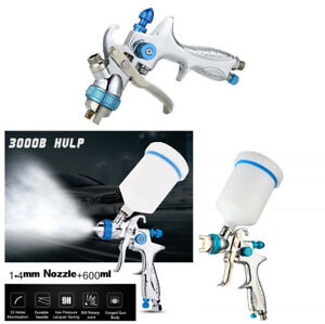 1 4mm Nozzle Hvlp Gravity Feed Professional Auto Car Paint Spray Gun 600ml Cup