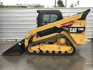 2014 Caterpillar 299d Only 221 Hrs Hiflow Track Skid Steer Loader Cat 299 Bobcat