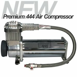 New Dual Chrome 444c Air Compressor Air Horn Ride Suspension 200psi Best Price