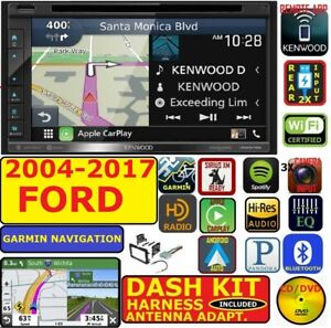 2004 17 Ford F E Series Kenwood Waze Navigation Apple Android Car Usb Stereo