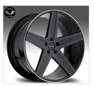 20 Giovanna Dramadio Wheels Matte Black 5x114 3 Stagger Rims Fit Lexus Ls Is G35