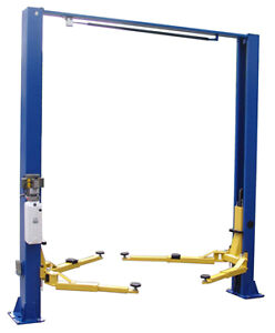 Two Post Lift 9 000 Clear Floor New Improved 2 Post Lift Gl9kacx Or Scx