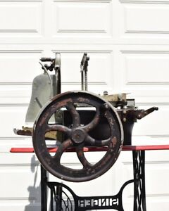 Antique Hand Crank Meat Slicer American Slicing Machine Model W Berkel