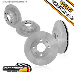 Front Rear Disc Rotors 2000 2001 2002 2003 2004 Ford Focus Lx Se Zts Ztw Zx3 Zx5