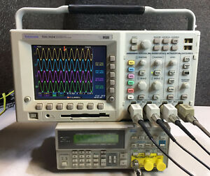 Tektronix Tds3054 4 Ch Dpo Oscilloscope 500mhz 5gsa s Options 539 Hours