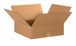 25 15x15x4 Cardboard Shipping Boxes Flat Corrugated Cartons