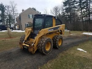 John Deere 332 Skid Steer 2 Speed Enclosed Cab Heat A c