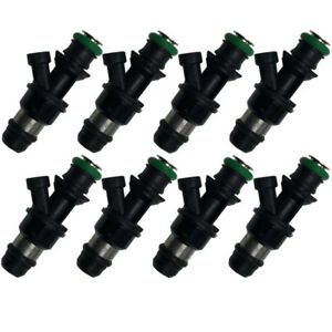 Set Of 8 42lb Fuel Injectors For Chevy Gmc Marine 8 1l Truck 2001 2004 440cc