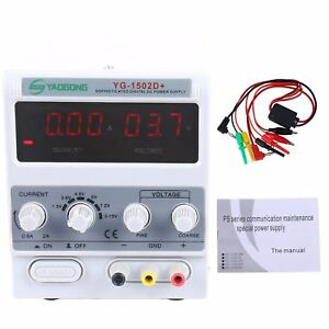 15v 2a Adjustable Dc Power Supply Precision Variable Dual Digital Lab Test Usa