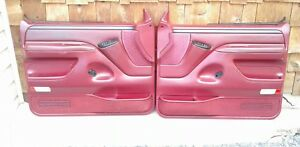 92 96 Ford Truck bronco Red Electric Door Panels W switches 424