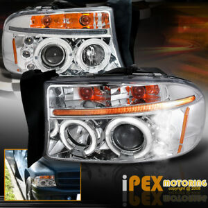 1997 2004 Dodge Dakota 98 03 Durango Led Halo Projector Head Light Signal Lamp