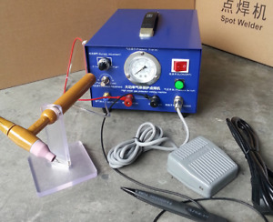 Hot 80a 400w Pulse Spot Welder Argon Protection Welding Jewelry Only 220v