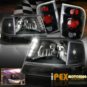 1998 2000 Ford Ranger Complete 6pc Led Headlights Signals Tail Light Black