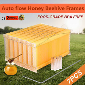 Automatic Flow Honey Bee Hive Frames 7pcs Beehive Raw Honey Beekeeping Hive Usa