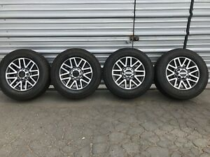 20 Ford Oem F250 F350 Take Off Wheels Rims And Michelin Tires Ltx 2 275 65r20