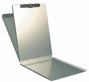 Legal size Portable Storage Clipboard With High Tension Clip Aluminum Silver