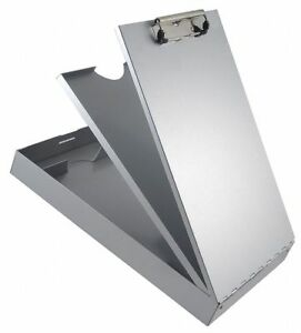 Saunders Letter size Clipboard With Low Profile Clip Aluminum Silver 21118