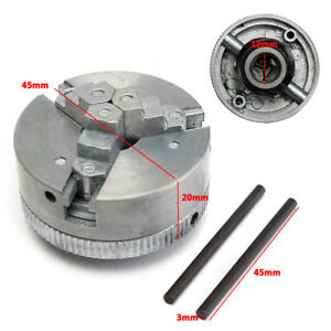 Three Metal Jaw Lathe Chuck M12 1 45mm Chuck For Mini 6 In 1 Lathe