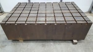 T slot Workholding Fixture Table Slotted Steel Mounting Plate 48 X 72