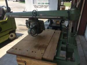 Radial Arm Saw 36 Crosscut 12 Blade 230 460 3 Phase Used