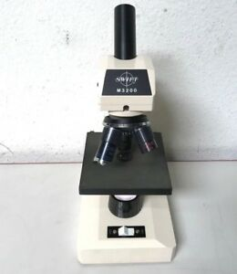 Swift Instruments Microscope M3200 3 Objectives Working Light