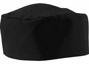 Black Chef Hat Adjustable One Size Fit Most 6 6 New