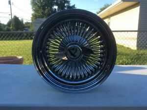 La Wire Wheel 15x7 3 1 8 R S W Adapter And 2 Bar Spinner Nut