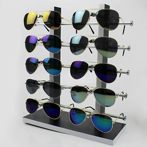 Wood Sunglass Glass Rack Frame Glasses Display Stand Holder Organizer Black New