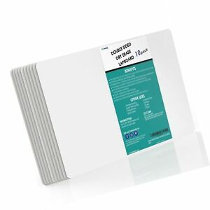 Totminds Double Sided Student Dry Erase Whiteboards Pack Of 10 9 X 12 Inc