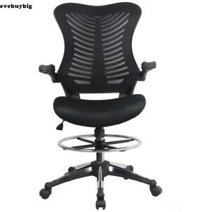 Executive Swivel Office Chair Race Car Style Bucket Seat Highback Leather 02