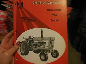 International 966 Tractor Operator s Manual New