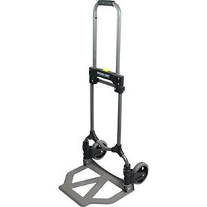 Folding Cart Trolley Hand Truck Utility Push Luggage Box Wherehouse Dolly Roller