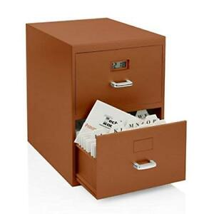 Miniature File Cabinet For Business Cards With Built in Digital Clock