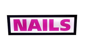 Nails Sign Led Light Box Sign 12x40x1 75 Inch