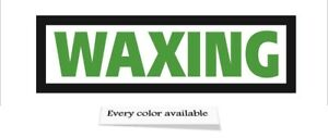 Waxing Sign Led Light Box Sign 12x40x1 75 Inch