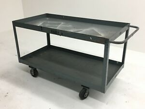 Heavy Duty Steel Cart 60 x30 x35 2 shelves 1000lb Cpacity