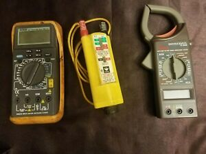 True Rms Multimeter Extech Fluke Digital Clamp Meter Voltage Tester Lot
