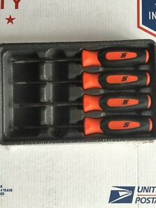 Snap On Mini Tip Soft Grip Orange Screwdriver Set
