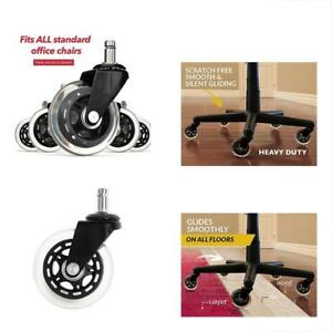 Office Chair Wheels Replacement Rubber Casters For Hardwood Floors And Carpet