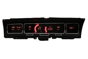 Ls Swap 68 Chevy Impala Caprice Digital Gauges Dash Panel Red Led Made In Usa