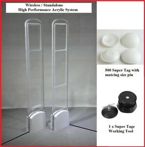 Wireless Super Acrylic Eas Rf Checkpoint Compatible Store Security System Combo