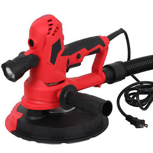 750w Hand Held Adjustable Speed Drywall Sander With Vacuum And Led Light