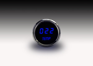 2 1 16 Digital Water Temp Gauge Blue Leds Chrome Bezel 52mm Lifetime Warranty